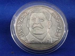 Moeda Medalha Josef Stalin Revolucionário Comunista Russia