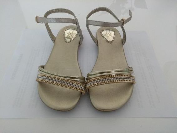 Sandália Infantil Dourada Pampili