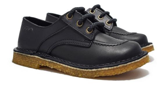 Zapatos Colegial Varon - Cuero Vacuno - 34 Al 40 - Costura Fraymocho - Calzado Ciro