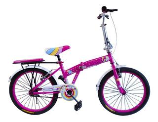 Bicicleta R20 Plegable Niña Muy Liviana