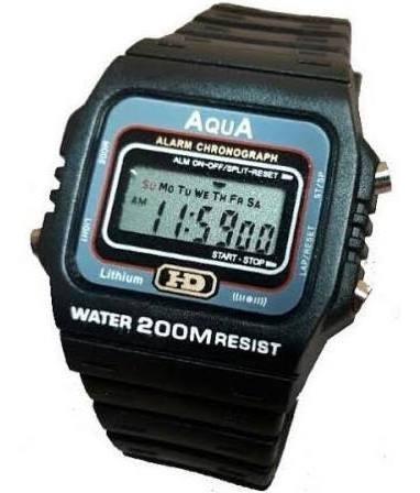 Relógio Masculino Aqua Aq 37 Digital Barato
