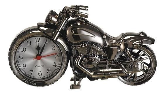 Relógio Formato De Moto De Mesa Despertador Decorativo