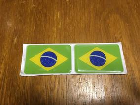 Adesivo Resinado Bandeira Do Brasil Carro, Moto Etc.