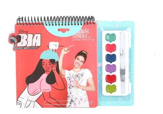 Set Acuarelas Con Pincel Y Cuadernillo Para Pintar Bia Edu