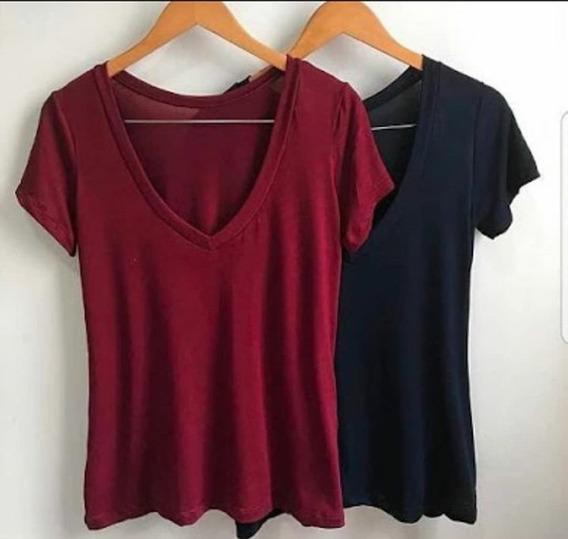 Kit Com 2 Camiseta Feminino Shirt Podrinha Varias Cores