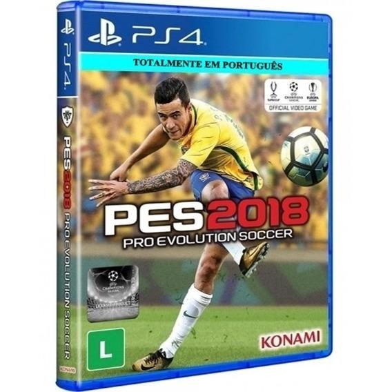 Pes 2018 Pro Evolution Soccer Ps4 Midia Fisica Novo Dublado