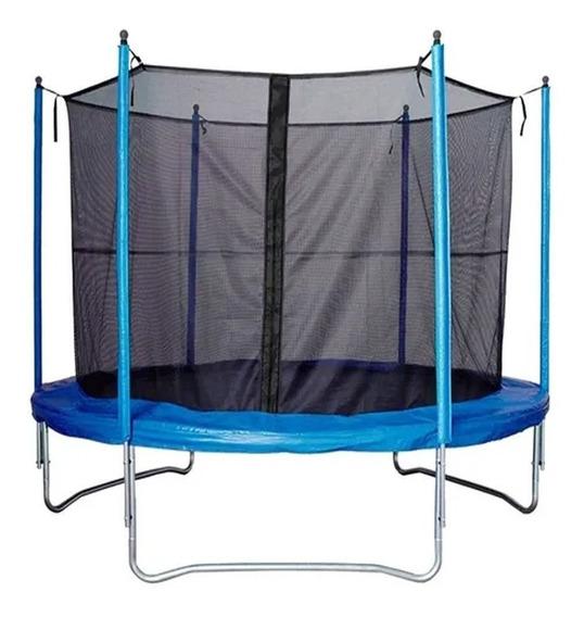 Cama Elastica Garden Life Tc0200 2.00mt Con Red Protectora