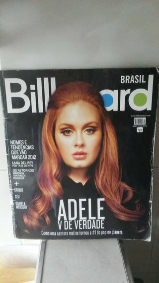 Revista Billboard Brasil 27 Fev 2012 Adele Lana Del Rey Rara