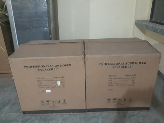Vendo 2 Sub Bajos Activos Npi De 18 Pulgadas