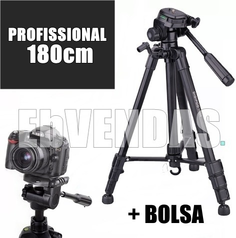 Tripé 1.80m P/ Canon M3 M5 M6 M10 77d T7i T5i T6i F.grátis