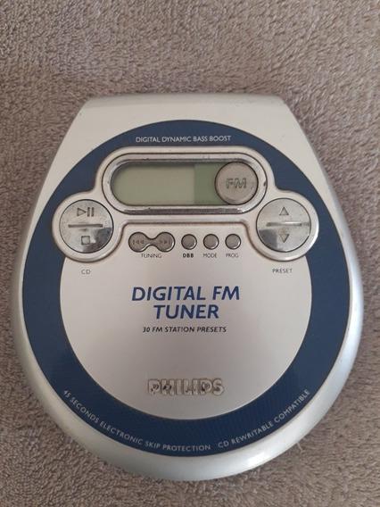 Discman Philips Cd Fm Funcionando