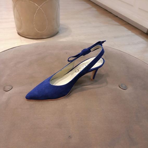 Zapato Mujer Stiletto Gamuza Con Moño Lynch #602
