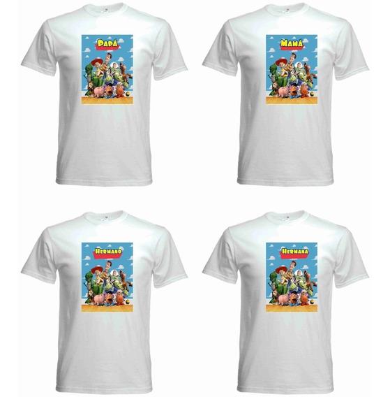 Playeras Personalizadas Toy Story Fiestas Cumpleaños Famila