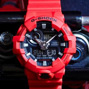 Relógio Casio G-shock Ga-700-4adr Vermelho Lançamento