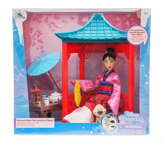 Playset Disney Store Boneca Mulan Tea Ceremony 20 Anos