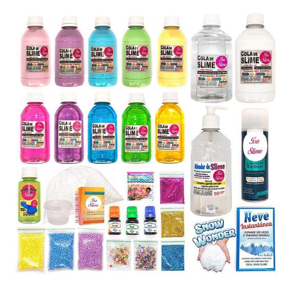 Kit Para Fazer Slimes Satisfatórios Slime Kids Brasil