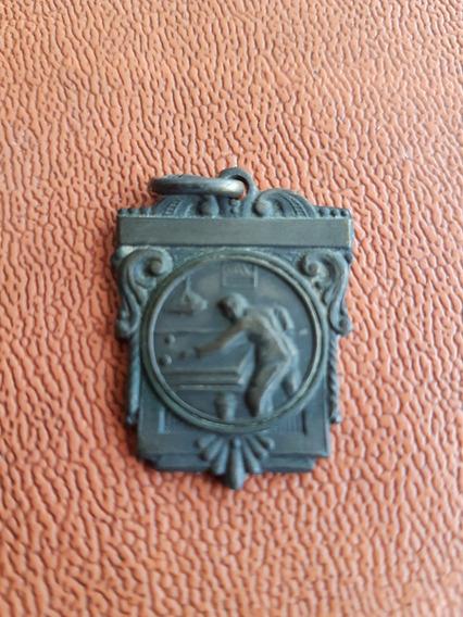 Medalla Campeon De Billar Antigua De 1944,,bronce
