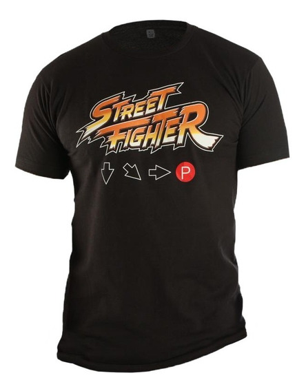 Playera Código Hadouken Street Fighter Negro S Think Geek