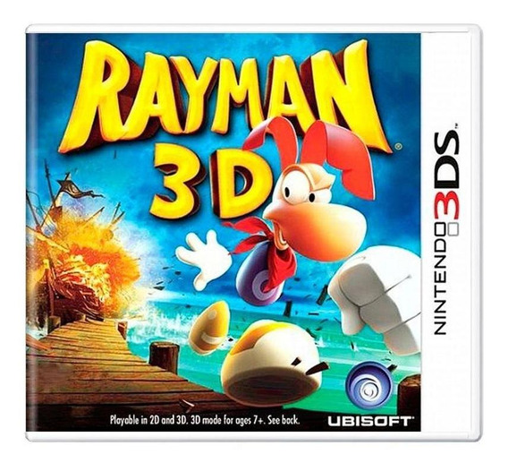 Rayman 3d 3ds Mídia Física Pronta Entrega