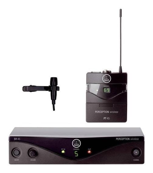 Sistema Microfone Sem Fio Lapela Perception 45 Bdb2 - Akg