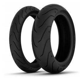 Par Pneus Michelin Scorcher 11 200/55 R17 + 140/75 R17