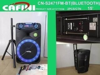 Parlante Amplificador Cafini Bluetooth Karaoke Cn-s2471fm-bt