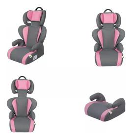 Cadeira / Poltrona P/ Carro - Tutti Baby - Rosa E Cinza