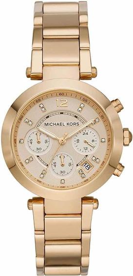 Relógio Michael Kors Dourados Com Cristais. Mk5276. Original