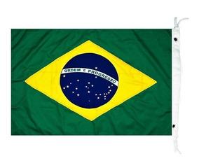 Bandeira Do Brasil P Barcos Mastro Alcançado Náutica 45 X 64