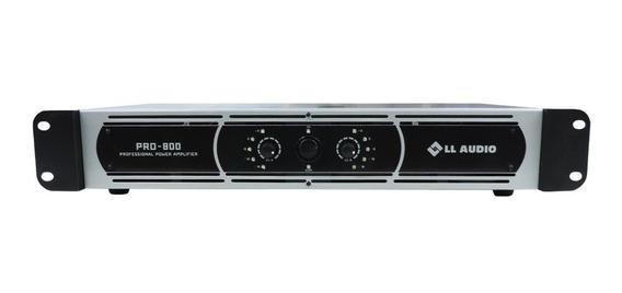 Amplificador De Potência Linha Pro 800 Ll Audio 200w Rms Ll