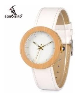 Relógio Feminino Bobo Bird Madeira Natural Original J27