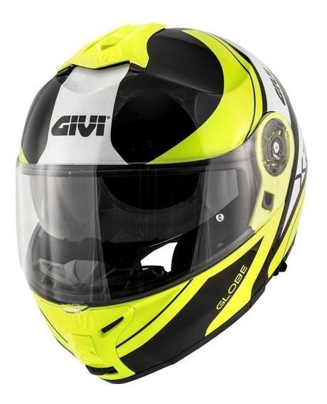 Capacete Givi X21 Globe Preto/amarelo Fluor/prata S2r