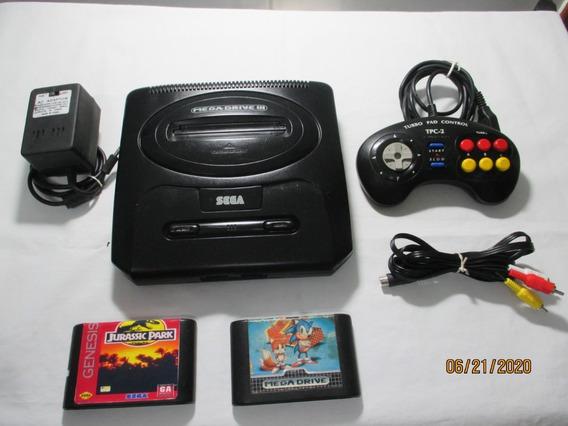 Vídeo Game Mega Drive 3 /completo + 2 Super Jogos