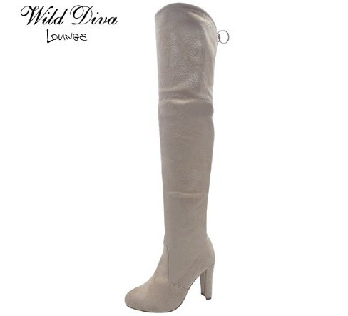 Botas De Tacon Modelo Amaya - Marca Wild Diva(importados)