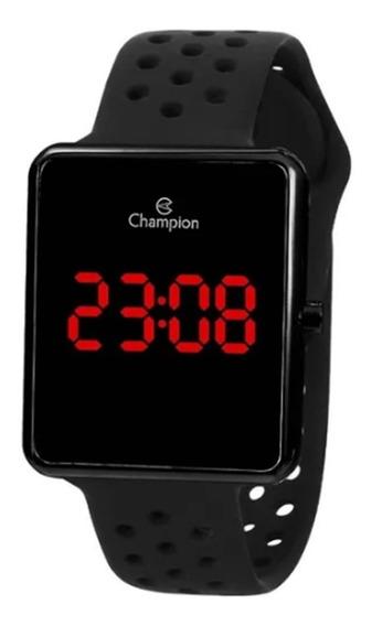 Relógio Champion Masculino Digital Led Preto Ch40081d C/nota