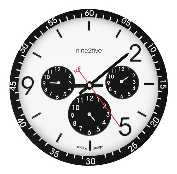 Reloj De Pared Nine2five, Pcls01ng Mov Silencioso Watch It