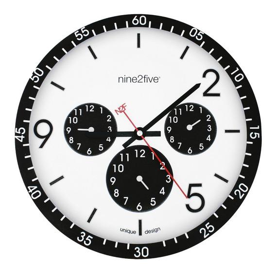 Reloj De Pared Nine2five, Pcls01ng Mov Silencioso