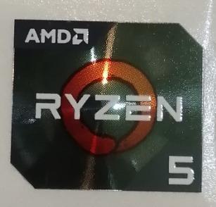 Adesivo Original Amd Ryzen 5