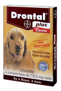 Vermífugo Drontal Plus Carne - Cães 10kg - 4 Comprimidos