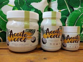 Aceite De Coco Virgen Orgánico Certificado X 1/2 Litro