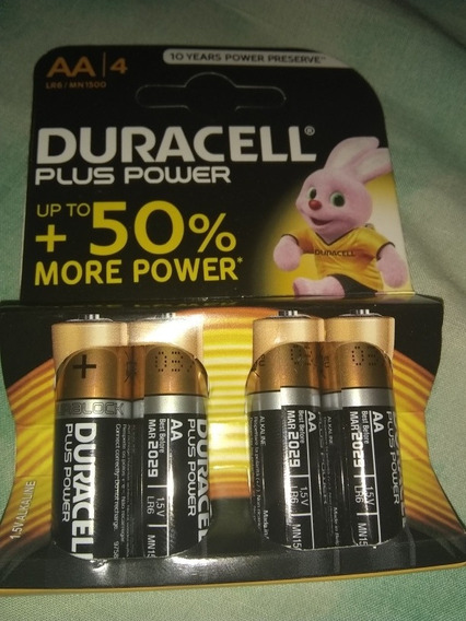 Pila/batería Duracell Plus Power Aa/aaa Up To 50% Más Poder.