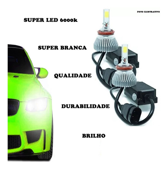 2 Kits Super Led H4 H3 6000k Corsa Classic