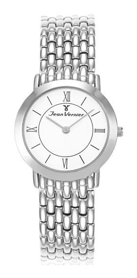 Relógio Jean Vernier Feminino Jv3100 Slim Social Prateado