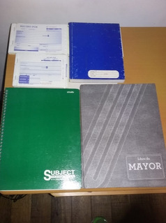 Cuadernos Empastado Y Cuadriculado, 2 Recibo Dinero, 2 Mayor