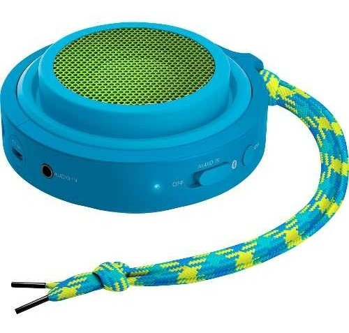 Caixa De Som Philips Bluetooth P2 Auxiliar Recarregável Azul