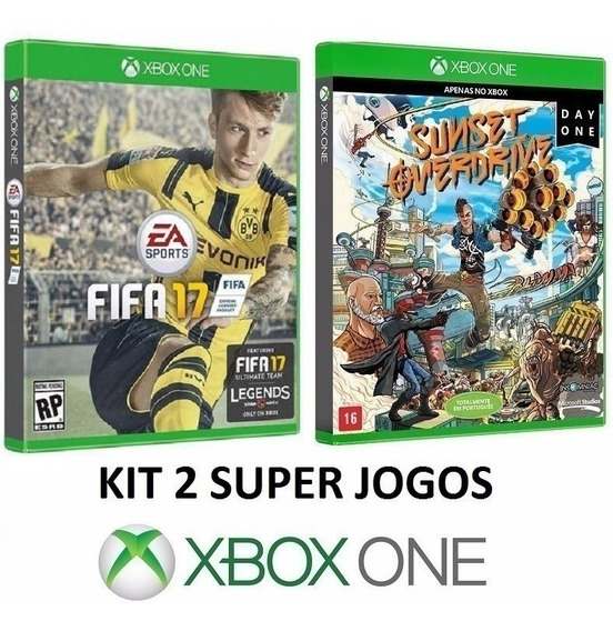 Fifa 17 Futebol + Sunset Overdrive - Midia Fisica - Xbox One
