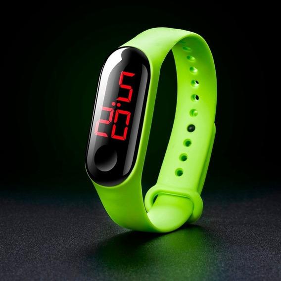 Relógio Led Pulseira Bracelete Coloridos Digital Unissex