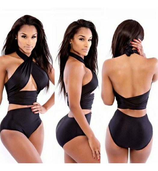 Trajes De Baños Panty Tiro Alto Bikinis Moda 2018 Lleve2x120