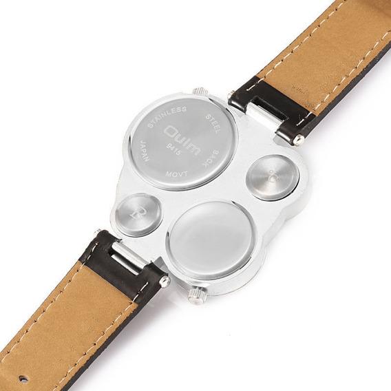 Relógio Masculino Pulso Oulm Ou03 Term Bússola 2 Most-branco