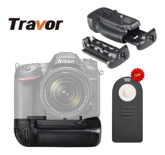 Battery Grip Para D7100 D7200 Travor Bg2n Com Controle